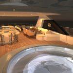 Ocean Alexander 135 Mega Yacht Upper Deck