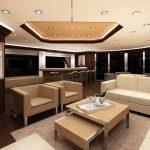 Ocean Alexander 135 Mega Yacht Lounge