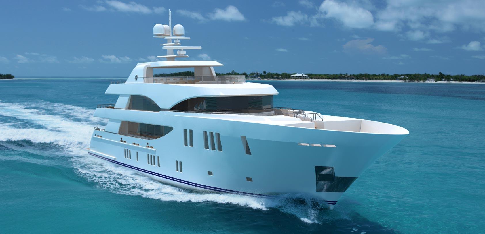 Ocean Alexander 155 Mega Yacht Running