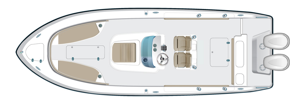 Pursuit C 260 Deck Plan