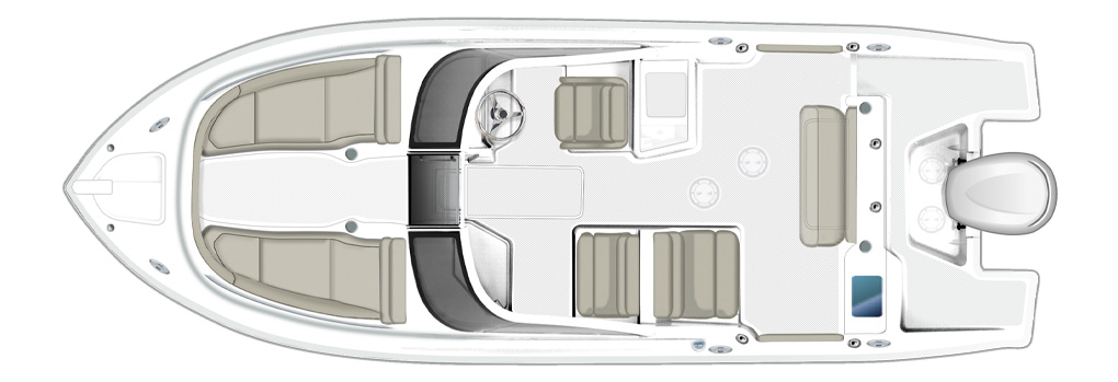 Pursuit DC 235 Deck plan