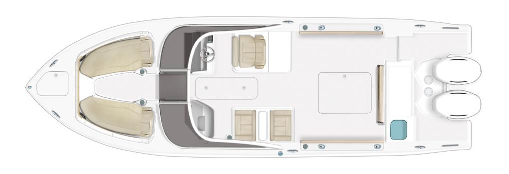 Pursuit DC 266 Deck Plan