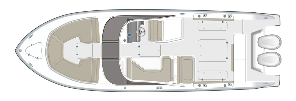 Pursuit DC 325 Deck Plan