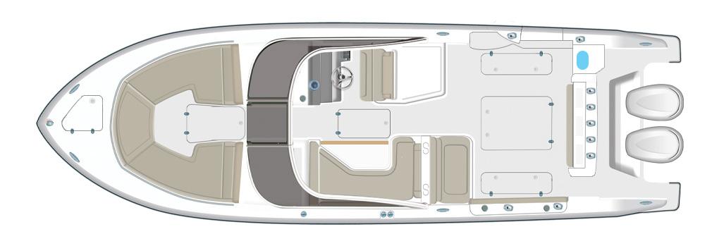 Pursuit DC 326 Deck Plan