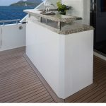 Ocean Alexander 118 Mega Yacht Deck bar