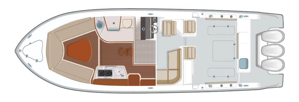 Pursuit OS 355 Deck Plan