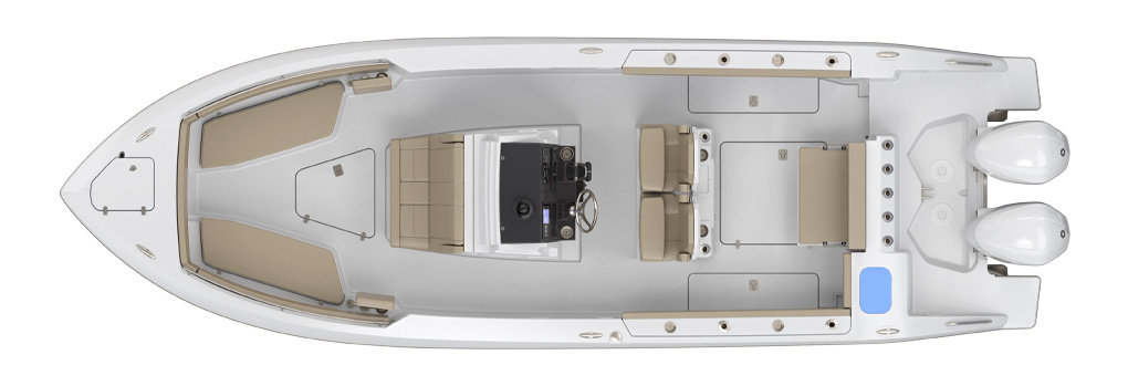 Pursuit S 268 Deck Plan
