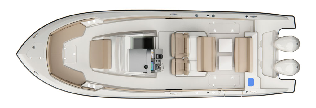 Pursuit S 328 Deck Plan
