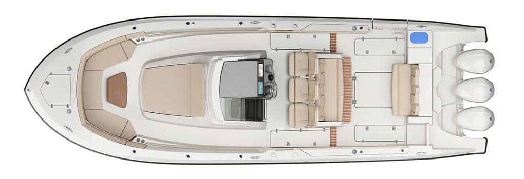 Pursuit S 368 Deck Plan