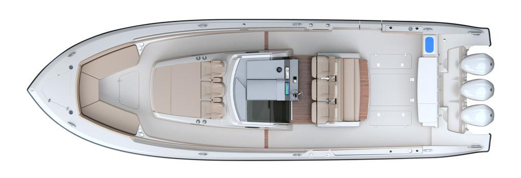 Pursuit S 408 Deck Plan