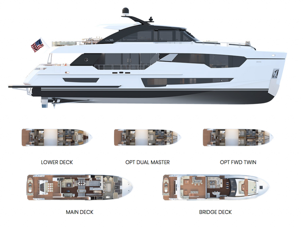 Ocean Alexander 90R Enclosed Deck Layout