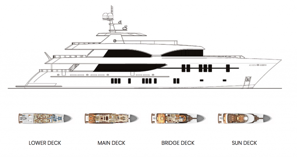 Ocean Alexander 155 Mega Yacht Specifications