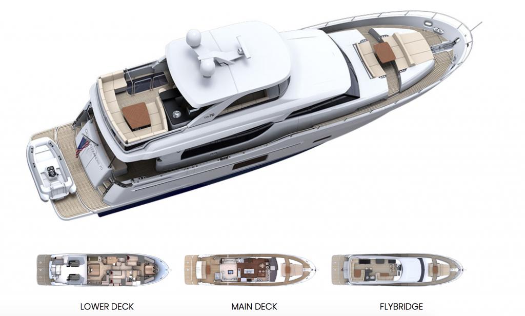 Ocean Alexander 70 Motoryacht Deck layout