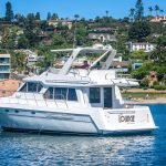 The Lounge is a Navigator 44 Pilothouse Yacht For Sale in San Diego-1
