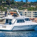 The Lounge is a Navigator 44 Pilothouse Yacht For Sale in San Diego-2