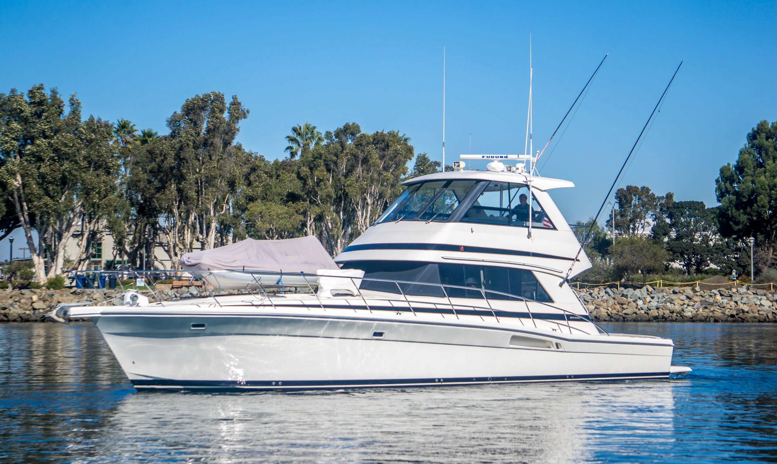 Dun Looking is a Riviera 48 Convertible Yacht For Sale in San Diego-0