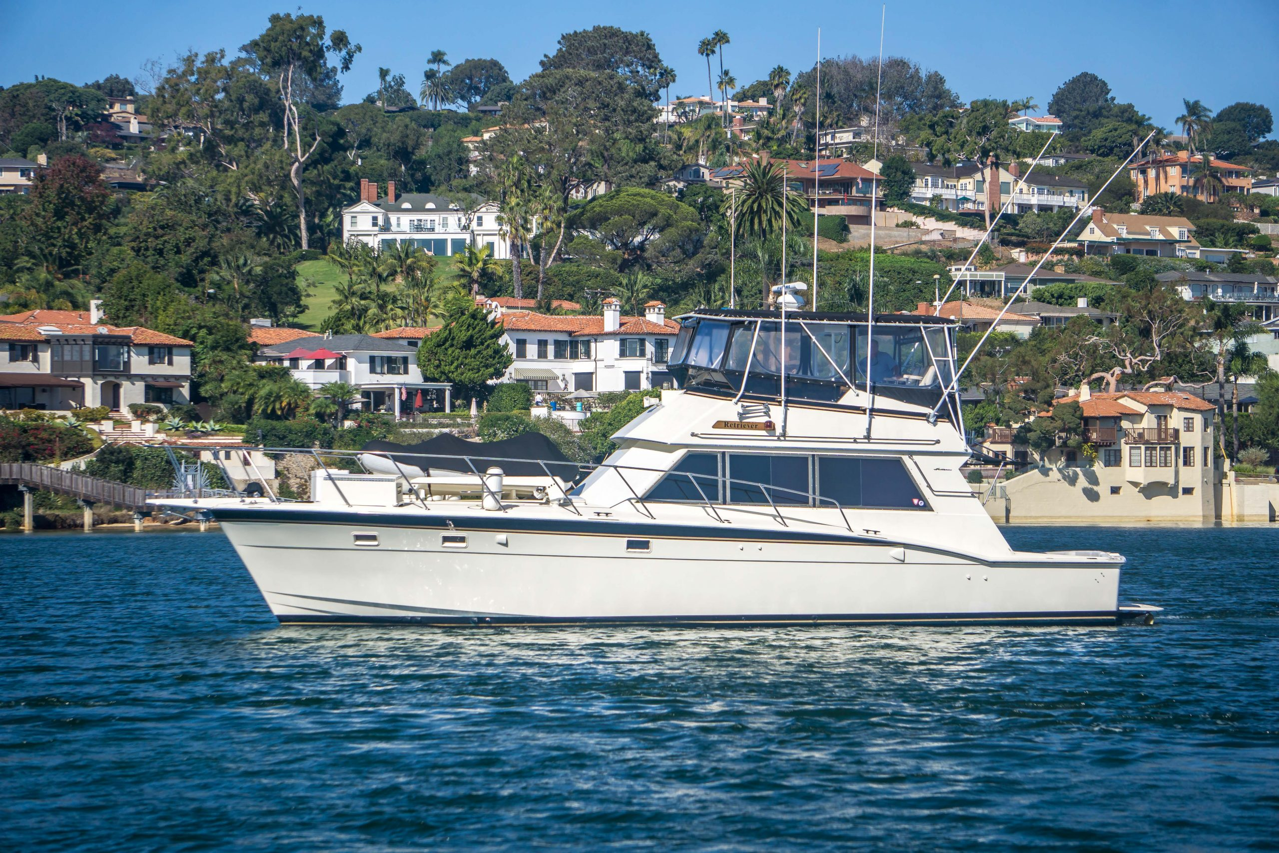 Retriever is a Hatteras 50 Convertible Yacht For Sale in San Diego-0