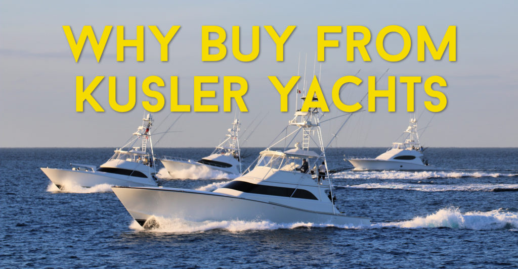 four sportfishing yachts running offshore
