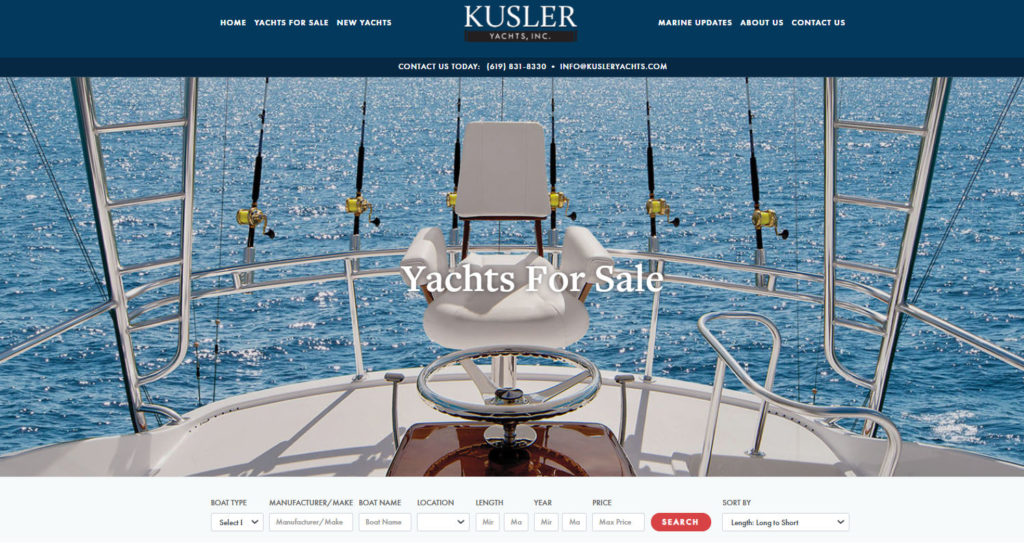 Kusler yachts all yachts for sale webpage